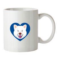 mug Akita inu blanc