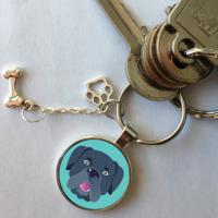 porte clé cane