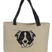 border collie cabas lin